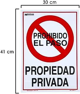 Wolfpack 15051285 Cartel Propiedad Privada 41x30