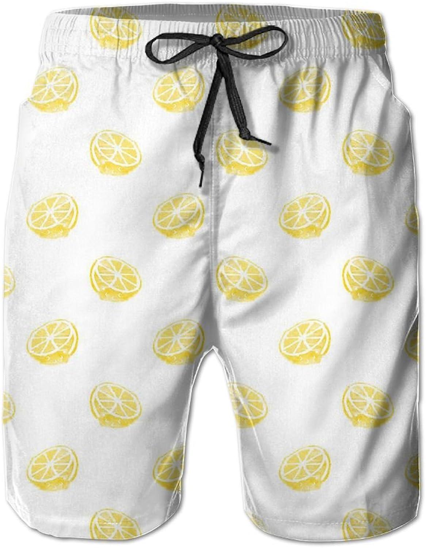 e0eaba17a8 Tydo Tydo Tydo Lemon Slices Men's Beach Shorts Quick Dry Surfing Trunks  Surf Board Pants With Pockets For Men 83ca2a