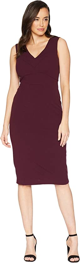 Scuba Crepe Solid Sheath Dress