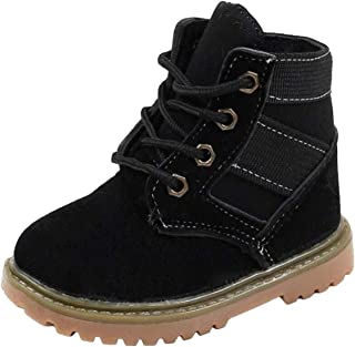 PPXID Toddler Boys Girls Outdoor Combat Boots Winter Snow Boot Lace-Up Ankle Boots Shoes