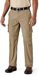 TACVASEN Men's Convertible Pants-Quick Dry Hiking Zip Off Travel Cargo Pants Lightweight