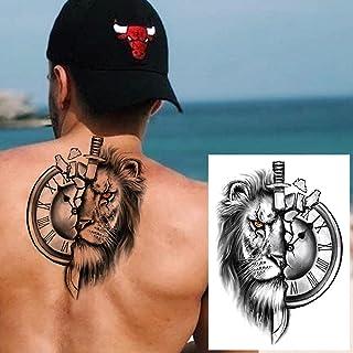 Geometrische Tijdelijke Tattoo Man Vrouw Kind Leeuw Vos Bloem Tattoo Zwarte Pioen Sticker Onderarm Tattoo-GTH144X