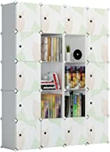KOUSI Cube Storage Cube Organizer Cube Storage Shelves Cubby Organizing Closet Storage Organizer Cabinet Shelving Bookshelf Toy Organizer (Green Leaf, 20 Cubes)