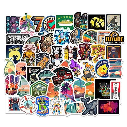Personalidad Tendencia Graffiti Pegatinas de Dibujos Animados Equipaje Scooter Coche Cuaderno Graffiti Pegatinas Decorativas 50 Uds