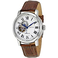 Seiko Automatic Silver Open Heart Dial Mens Watch SSA231
