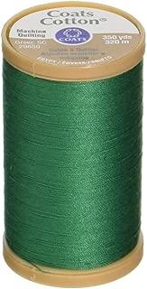 Coats Thread & Zippers S975-6670 Machine Quilting Cotton Thread, 350-Yard, Field Green