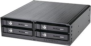 """センチュリー 5インチベイ内蔵 2.5""""SATA 6G HDD/SSDx4台 搭載可能ラック 『5インチベイにまとめるラック SATA 6G(4台タイプ)』 CMRK-S4S6G"""