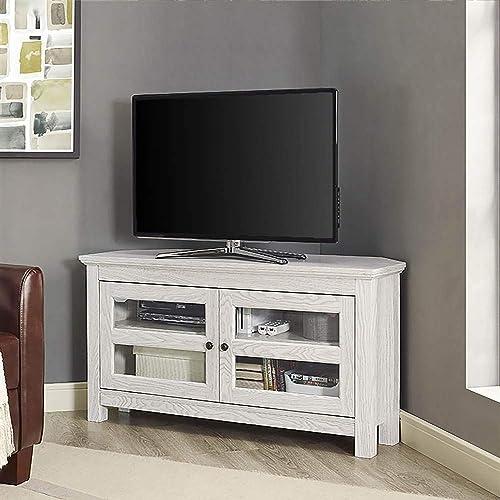 White Corner Tv Stand Amazon Com