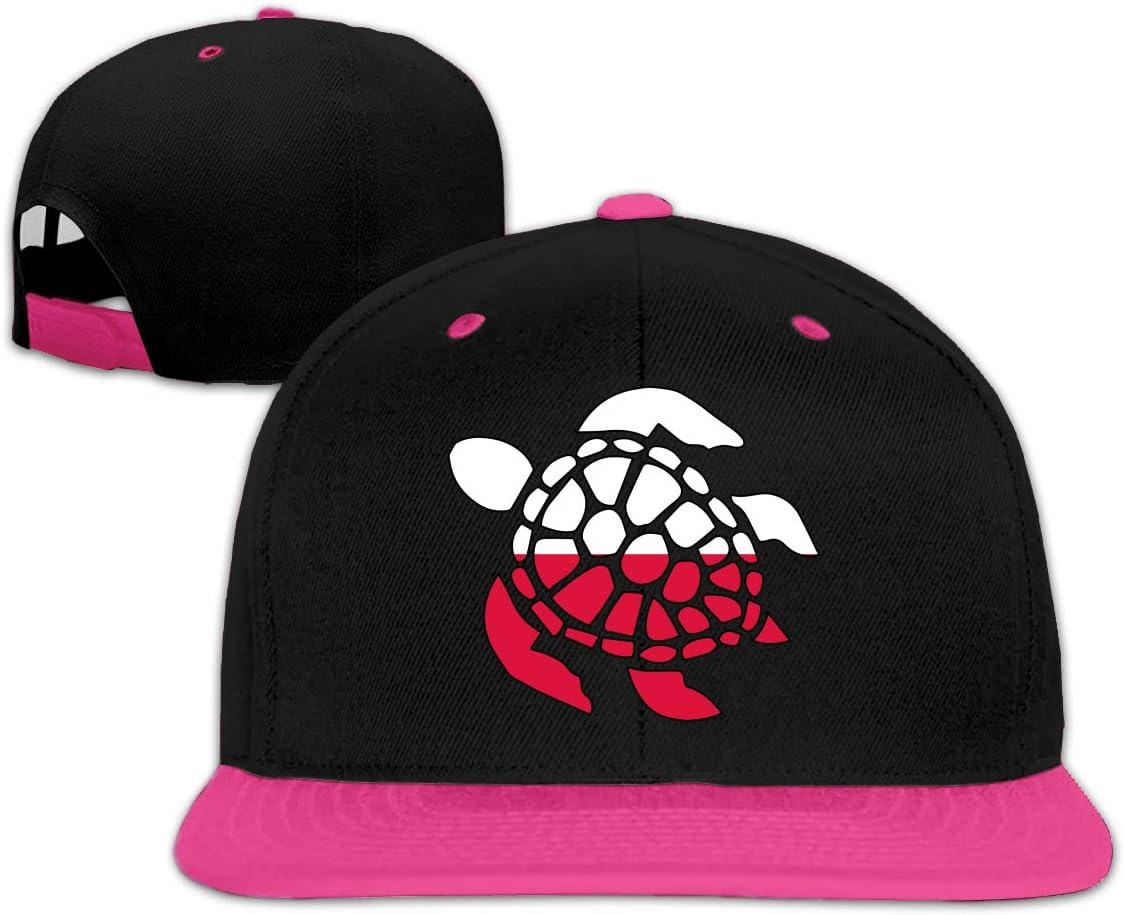 Ftoyou-7 Sea Turtle Poland Flag Unisex Adjustable Hip-Hop Caps Snapback Hats Baseball Cap