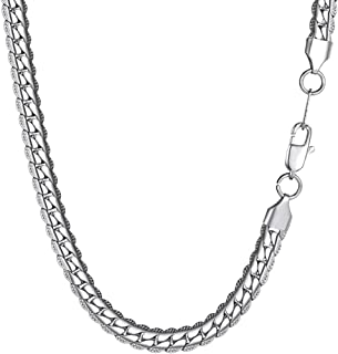 Snake Chain With Clasp,6.5mm Wide Chain Necklace Men, Women 316L Stainless Steel Chain Jewelry,18'',20'',22'',24'',26'',28'',30'',32'' Gold/Black Gun Plated Chain DIY For Pendant/Necklace PSN2796