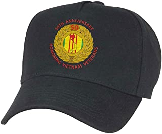 50th Anniversary Vietnam War Hat Black L/XL