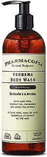 Pharmacopia Verbena Body Wash – Moisturizing Shower Gel with Natural & Organic Ingredients – Vegan Bodywash for Men & Women, 16oz