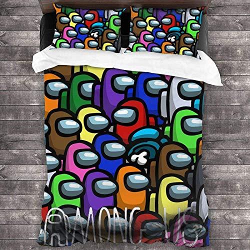 NBAOBAO Among US - Juego de ropa de cama de Among US,...