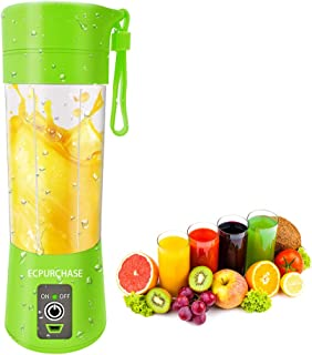 Portable Blender Single Serve, Personal Size Blender USB Rechargeable Juicer Cup Fruit Mixing Machine Baby Travel 380ml FD...