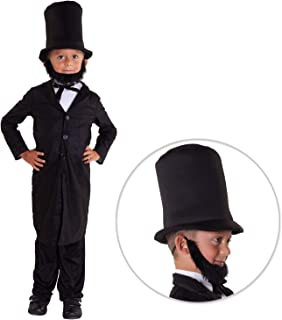 Morph Kids President Abraham Lincoln Costume Childs History American Politician Outfit - Large (11 - 13 Years)