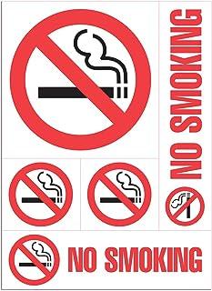 "Cosco NO SMOKING Decal, 8"" x 12"" sheet of 5 decals (098267)"