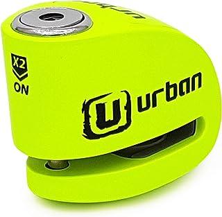 Urban Security UR906X Candado antirrobo moto disco alarma 120 db, Amarillo flúor
