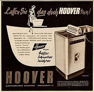 1956 German Print Ad Hoover Washing Machine 0321