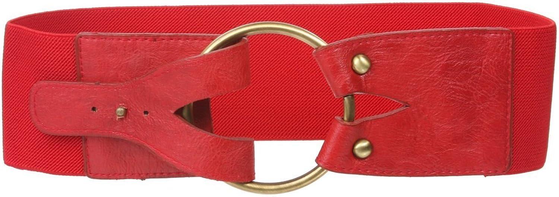 3  (75mm) Wide High Waist Fashion Ring Fold Stretch Belt