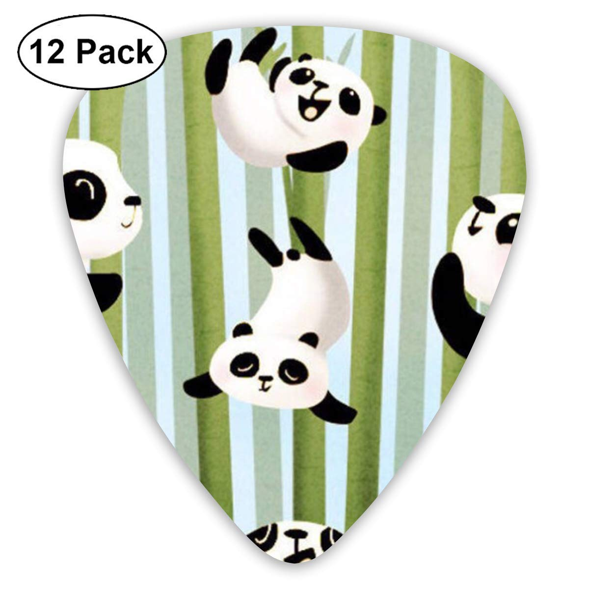 12 Pack Guitar Picks Panda Play in The Bamboo Think, Medium and Heavy,Unique Guitar Gift for Bass, Electric & Acoustic Guitars: Amazon.es: Instrumentos musicales