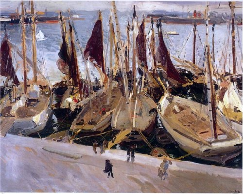 Joaquin Sorolla Y Bastida Boats in the Port, Valencia - 20