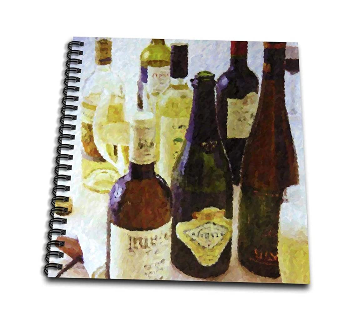 3dRose db_20286_1 Wine Abstract Drawing Book, 8 by 8