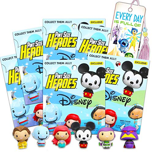 Pint Size Heroes Disney Mystery Packs Bundle ~ 6 Funko Pop Mystery Minis with Mini Figures Toys with Inside Out Bookmark (Party Favors).