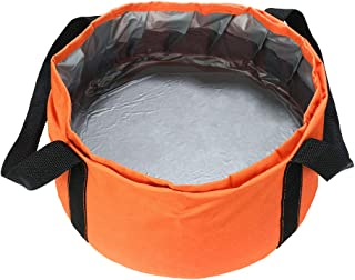 "SumDirect 9.4""x5.1"" Portable Multifunctional Foldable Collapsible Outdoor Wash Basin Bucket for Camping Hiking Fishing Traveling with Carrying Pouch"