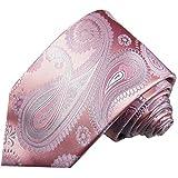Paul Malone Rosa pink paisley Krawatte 100% Seide Seidenkrawatte
