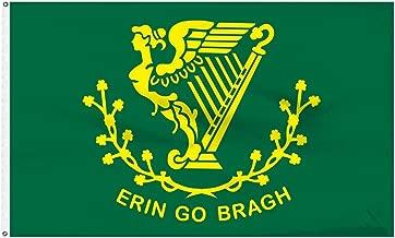 3X5 Ireland Irish Erin Go Bragh Harp Nylon Polyester 150D Flag 3'X5' Premium