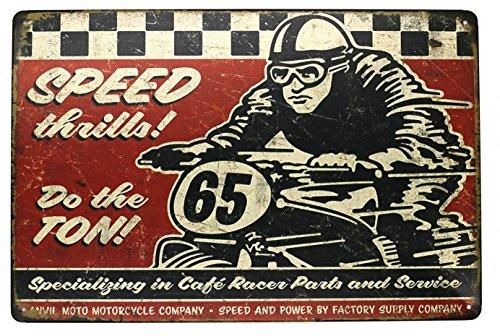hioni Speed Thrills Moto Race Vintage Cartel de chapa Póster IB Laursen Cartel para pared decoración de pared metal