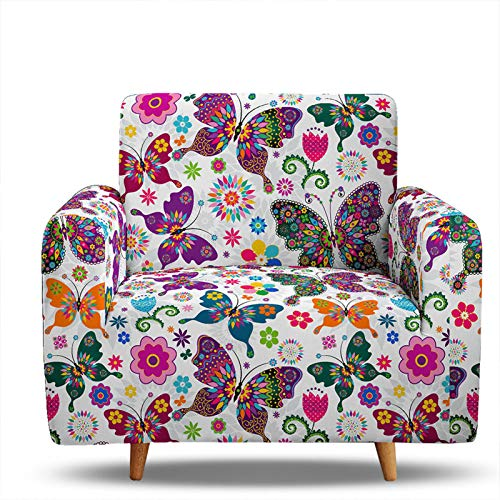 3D Digital Printing Sofa Slipcover,Armless Sofa Bed Cover 2 Seater Polyester Stretch Futon Slipcover,Anti-Slip Elastic Full Folding Couch Sofa Shield Fits Folding So 1 Seater