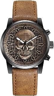 Men Steampunk Skeleton Watches Quartz Wristwatches Sports Cool 3D Skull Waterproof Watch
