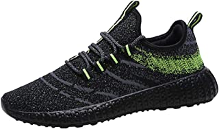 AUCDK Men Flat Athletic Shoes Low Top Lightweight Mesh Upper Trainers Breathable Daily Wear and Running Sneakers