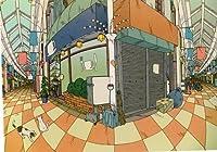 ねこの引出し 画家・イラストレーター佐久間真人さんのポストカード ★「通りの眺め」