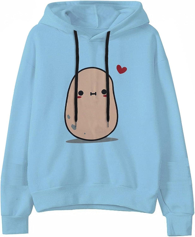 Cute Hoodies for Women,Women's Frog Sweatshirt Long Sleeve Color Block Tops Cartoon Girls Casual Pullover Tops