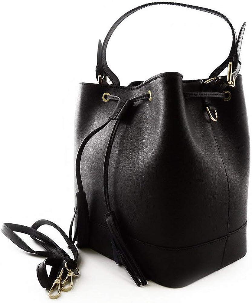 The Tixie-Leather Handbag (Black)