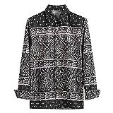 JJZSL Camisa De Moda De Otoño para Hombres Casual De Manga Larga De La Playa Top Suelto Camisa Ocasional Camisas Hawaiian M-3XL Tallas Grandes (Color : Black, Size : XL Code)