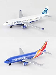 Daron Jetblue, Southwest Airlines Diecast Airplane Package - Two 5.5