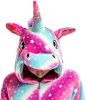 Kids Unisex Cosplay Pajamas Onesie Unicorn Costume