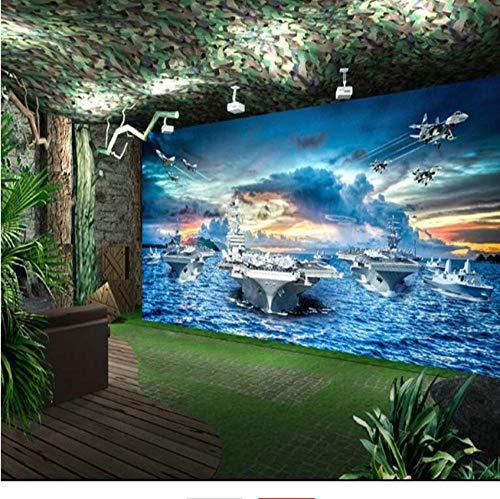 Mazhant Navy Flugzeugträger Kampfgruppe Militär Hintergrund 3D Großes Wandbild Tapete Hd Tv Hintergrund Benutzerdefinierte Fototapete-200X140cm