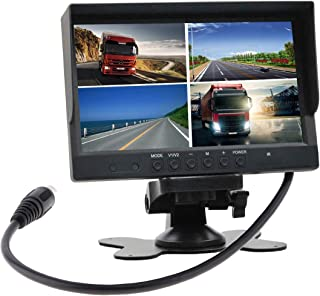 mondeyo 9 Inch Quad Split Monitor 1024x600 Resolution HD Screen TFT LCD Video Displays for Home CCTV Surveillance Security System, Anti-Glare Style Parking Dashboard Monitor for Car Backup Camera