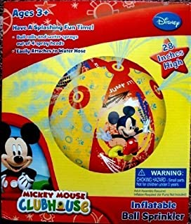 Disney Mickey Mouse Clubhouse, Giant Ball Water Sprinkler, 28 inches, Rolls and Sprays, Model: , Toys & Play