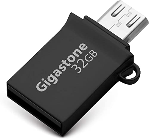 popular Gigastone 32GB USB 3.0 Flash Drive online sale OTG with USB and Micro USB Dual Interfaces, 2 Ports, Durable Metal Alloy Memory outlet online sale Stick online sale