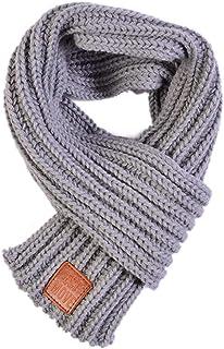 Sciarpa lavorata a maglia lana autunno-inverno Scalda collo a tinta unita calda-Da 1-8 anni SMARTRICH Sciarpe per bambini