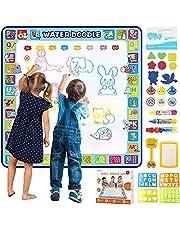 Tobeape Magic Doodle Mat100x100cm Extra Large Aqua Magic Doodle Mat, Colorful Educational Water Drawing Doodling Mat Color Mat for Kids Toddler Boys Girls Age 2 3 4 5 6 7 8
