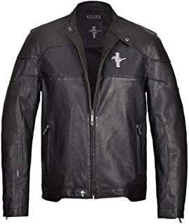 Mustang Jacket GT Black Genuine Leather Ford Logo Horse On Chest