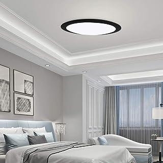 Ankishi 24W Plafón LED Techo, 2400LM Plafón de Techo Redondo, Ultra Delgado Iluminación de techo 3000K-6000K(Regulable), Lampara LED de Techo Empotrada Adecuada para Baño Cocina Pasillo.