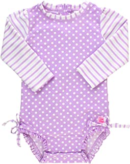 c52783cdc2 RuffleButts Baby/Toddler Girls Long Sleeve One Piece Swimsuit with UPF 50+  Sun Protection