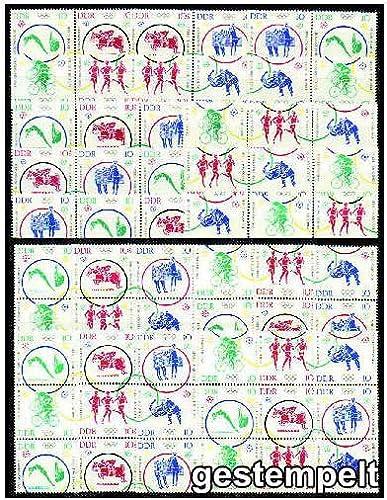 Goldhahn DDR Zusammendrucke Nr. 1039-1044 gestempelt Olympiade 1964  WZd 126 - SZd 63, 24 Kombinationen Briefmarken für Sammler